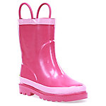 Western Chief Girl's Hot Pink Solid Rain Boots
