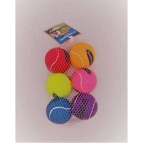 Retriever Tennis Ball Val Pack Pet Toy Pack Of 6 In At Tractor Supply