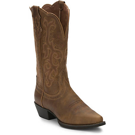 Justin Women's 12 in. Stampede Collection Puma Cowhide Boot