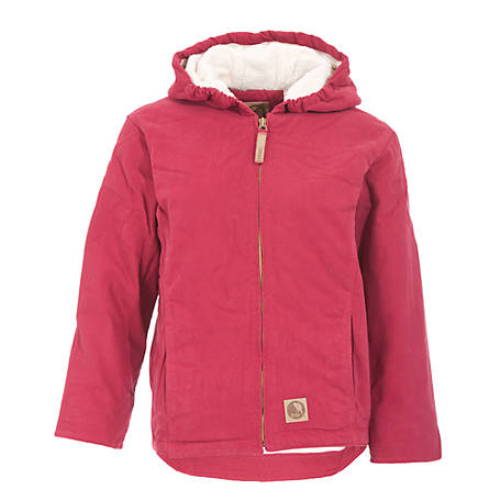 b3b07237588 Berne Girl s Sanded Washed Duck Sherpa-Lined Hooded Jacket at ...