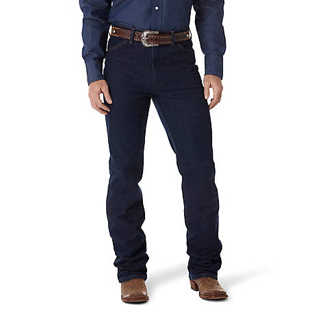 Wrangler Men's Cowboy Cut Navy Stretch Slim Fit Jean