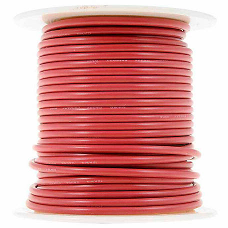 Cambridge Wire Spool, Red, 12 AWG, 100 ft.