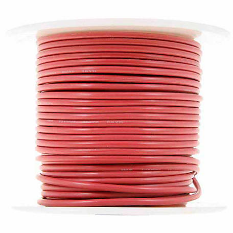 Cambridge Wire Spool, Red, 14 AWG, 100 ft.