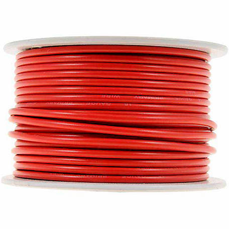 Cambridge Wire Spool, Red, 16 AWG, 100 ft.
