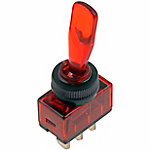 Toggle Switch with Red Glow, 20A, 12V DC, 240W