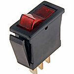 Rocker, Red, 20A, 12V DC, 240W