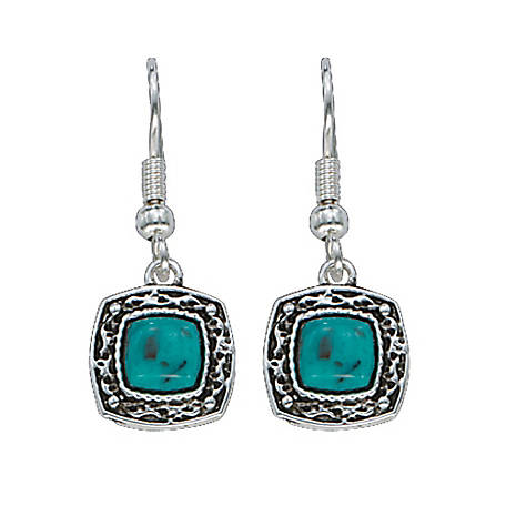 Montana Silversmiths Blue Earth Turquoise Drop Earrings