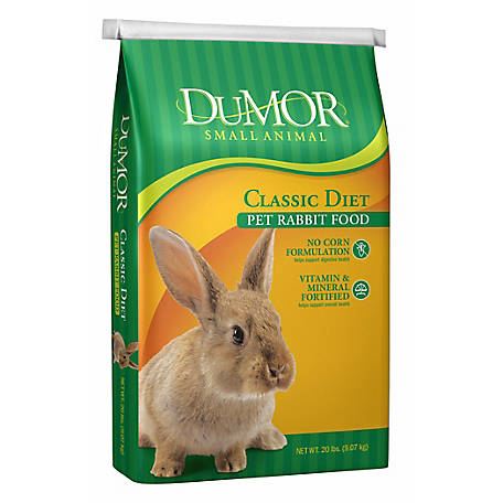 DuMOR Classic Diet Pet Rabbit Food, 20 lb. Bag