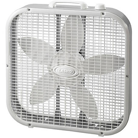 Lasko Slim 20 in. Box Fan with Save Smart