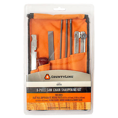 CountyLine 8-Piece Chainsaw Sharpening Field Kit