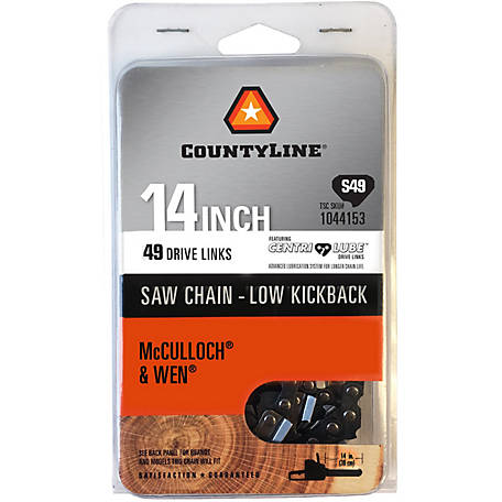 CountyLine 14 in. Semi Chisel Saw Chain; 3/8 in. LP Pitch; .050 in. Gauge; 49 DL