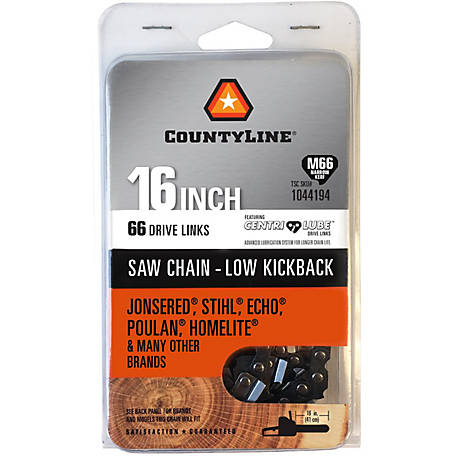 CountyLine 16 in. Narrow Kerf Saw Chain; .325 in. Pitch; .050 in. Gauge; 66 DL