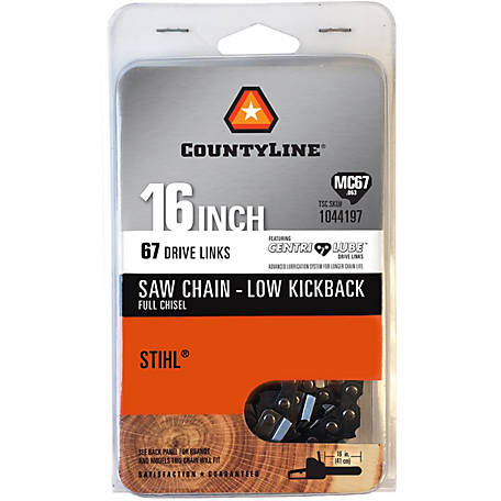 CountyLine 16 in. Full Chisel Saw Chain; .325 in. Pitch; .063 in. Gauge; 67 DL