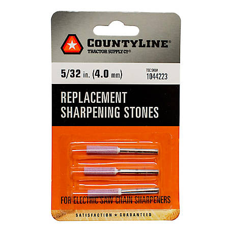 CountyLine 5/32 in. Sharpening Stone, Pack of 3