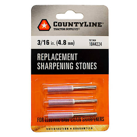 CountyLine 3/16 in. Sharpening Stone, Pack of 3