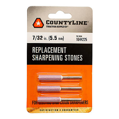 CountyLine 7/32 in. Sharpening Stone, Pack of 3