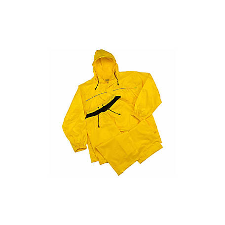 C.E. Schmidt Men's Yellow Polyester 2 Piece Rainsuit