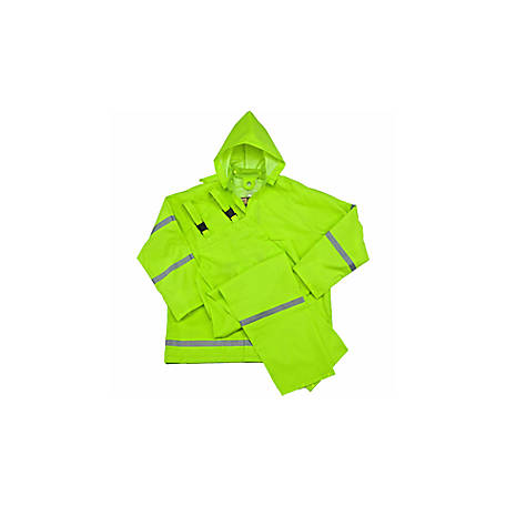C.E. Schmidt Men's Hi-Vis 35mm PVC 2 Piece Rainsuit