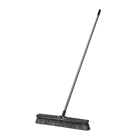 JobSmart 24 in. Outdoor Rough Surface Push Broom with Handle