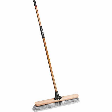 JobSmart 24 in. Heavy Duty Indoor Push Broom with Handle