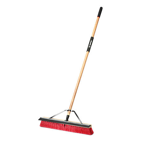 JobSmart 24 in. Heavy Duty Indoor Outdoor Push Broom