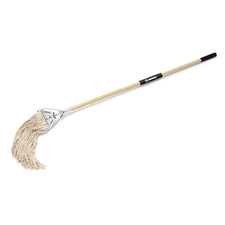 JobSmart Wooden Wet Mop with Handle
