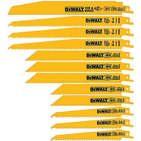 DeWALT 12-Piece Reciprocating Saw Blade Set with Telescoping Case
