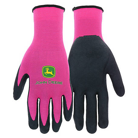 John Deere Ladies' Nitrile Foam Palm Dipped Gloves