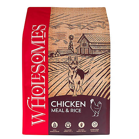 Wholesomes Chicken Meal and Rice Dog Food, 40 lb. Bag, 16.5 x 7.5 x 27.5