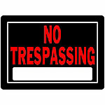 Hillman The Group Aluminum No Trespassing Sign, 10 in. x 14 in., 840125