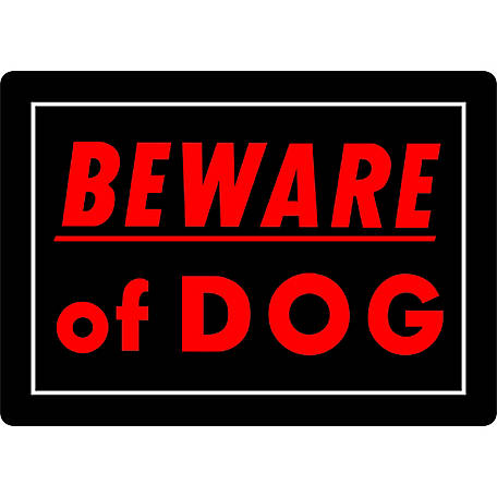 Hillman Beware of Dog Sign, 10 in. x 14 in.