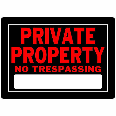 Hillman The Group Aluminum Private Property Sign, 10 in. x 14 in., 840147