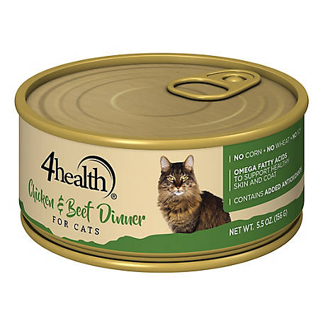 4health Original Cat Chicken & Beef Dinner Cat Food, 5.5 oz. Can