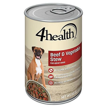 4health Original Beef & Vegetable Stew Formula for Adult Dogs, 22 oz. Can