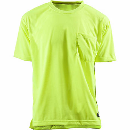 C.E. Schmidt Men's Enhanced Visibility Short Sleeve Pocket T-Shirt