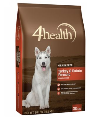 4health Grain Free Turkey & Potato Dog Food, 30 lb.