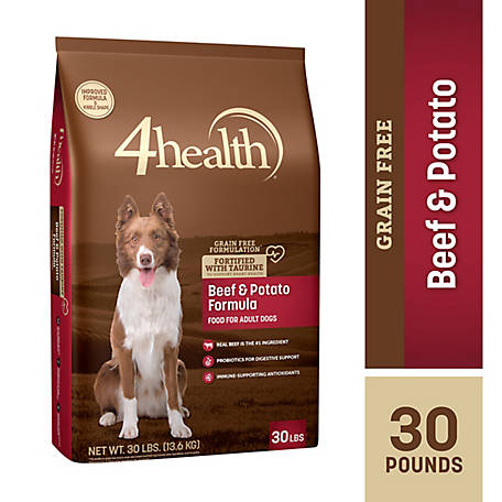 4health Grain-Free Beef & Potato Dog Food, 30 lb.