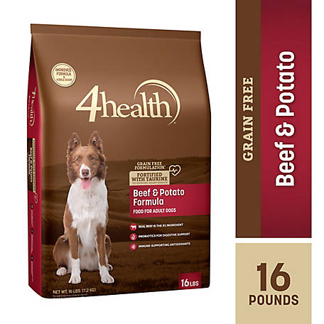 4health Grain-Free Beef & Potato Dog Food, 16 lb.