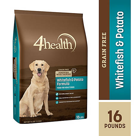 4health Grain Free Whitefish & Potato Formula Dog Food, 16 lb. Bag