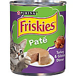 Friskies Classic Pate Turkey & Giblets Dinner Wet Cat Food, 13 oz. Can