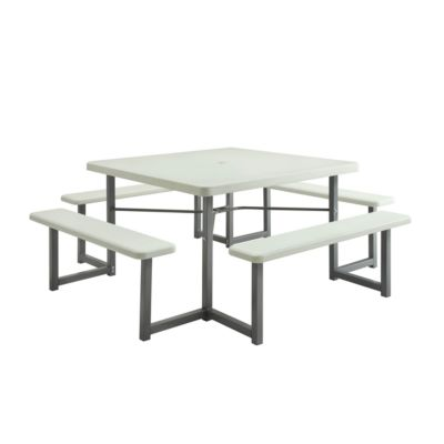 Sunny Point Picnic Table With Four Benches At Tractor Supply Co - Square picnic table with benches