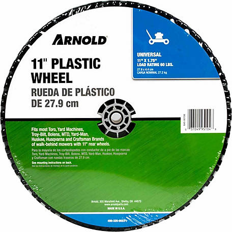 Arnold 11 in. Universal Plastic Wheel with Adapters