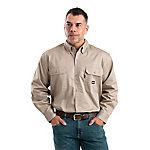 Berne Men's Flame Resistant Button Down Long Sleeve Twill Work Shirt