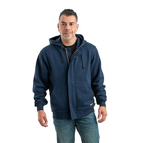 e6caf9e067eb Berne Men s Flame Resistant Unlined Fleece Zip-Front Hooded Sweatshirt