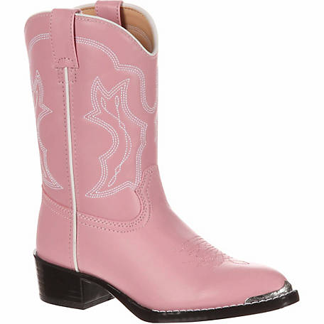 Durango Girl's Dusty Pink & Chrome Cowboy Boot