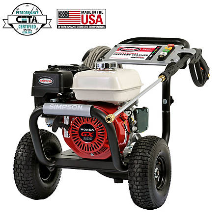 Simpson PS3425 3400 PSI @ 2.5 GPM Cold Water Gas Pressure Washer Powered By  Honda At Tractor Supply Co.