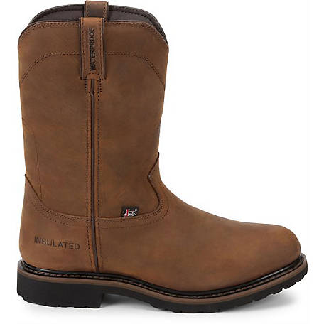 Justin Men's 10 in. Wyoming Waterproof Insulated Worker II Boot