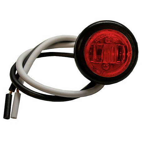 Blazer C534BAK LED 3/4 in. Round Red Clearance and Side Marker Light with Rubber Grommet