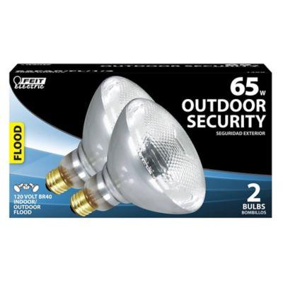 Buy Feit Electric 65 watt Incandescent BR40 Reflector Floodlight Bulb; Pack of 2 Online