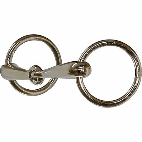 Circle R Designed by Reinsman Pony Bit- Smooth Nickel Snaffle